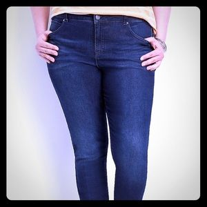 Maurices Jeans - Everflex high rise dark stretch skinny jeans